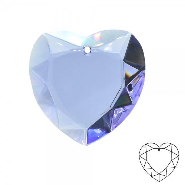 20 Stück Kristall Herz ø 40mm Anhänger Kristallglas violett Alexandrite