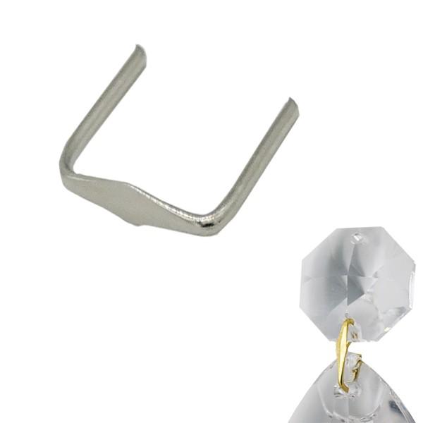 Kristall Clipse Chrom Verbinder 8 / 11 / 14mm - 100 Stück