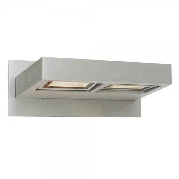 LED Wandleuchte Modern 2-flg. Spectrum Aluminium geschliffen 7325ST