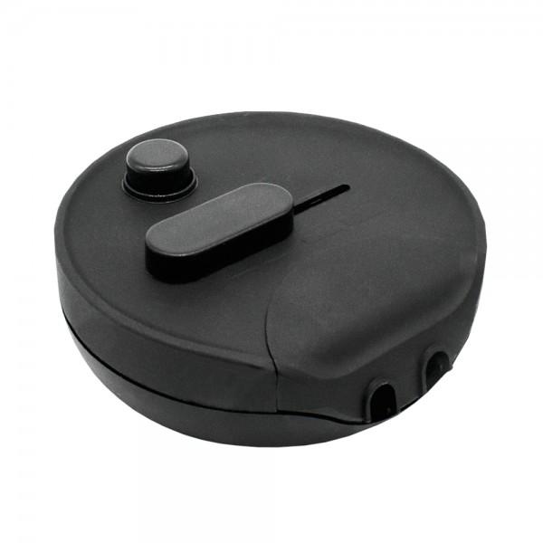 Fußdimmer 300W Universal Dimmer rund schwarz 230V Hochvolt Schnur-Zwischendimmer Mod.1012S