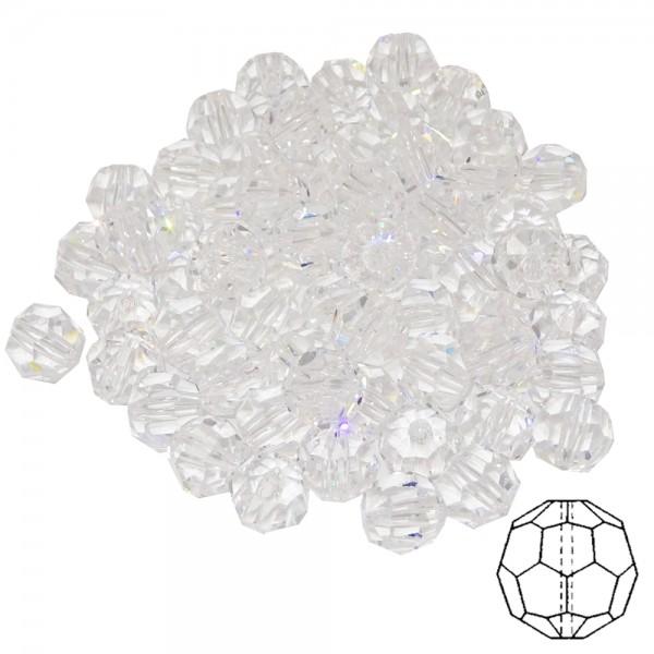 150 Stück Kristallperle d. 6mm Kristall geschliffen kristallklar 30% Bleikristall