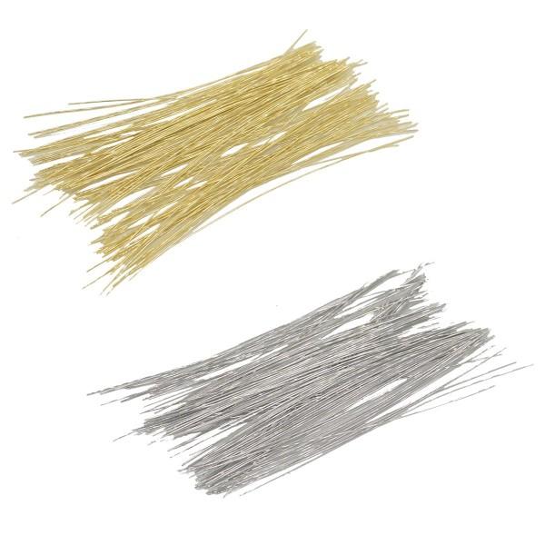 Geschnittene Draht-Stücke Silber / Gold zum verbinden und basteln 100 Stück