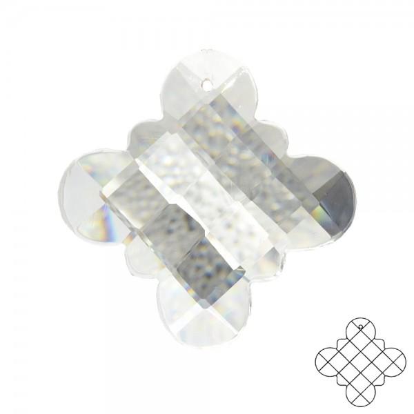 Kristallglas Florescence ø 50mm 1-Loch kristallklar