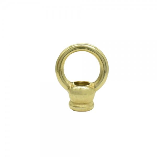 Ringnippel Ø 30 mm M10x1 Durchgangsgewinde Messing poliert