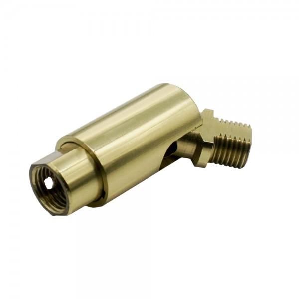 Messing Dreh-Kipp-Gelenk 16x48 M10x1 IG/AG m. Verdrehungsschutz MS poliert