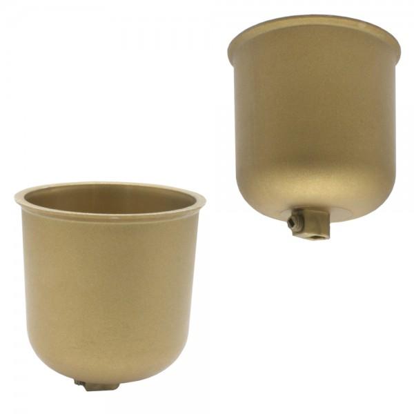Baldachin gold matt Kunststoff mit Feststellschraube abgerundet ø 76 H. 82mm
