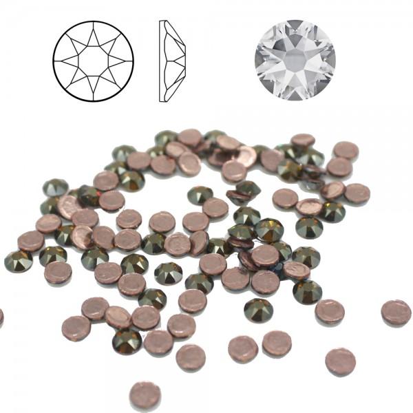 100x SWAROVSKI® 2078 Bronze Shade Strass-Steine ø 4mm SS16 Hotfix zum aufbügeln 001BRSH