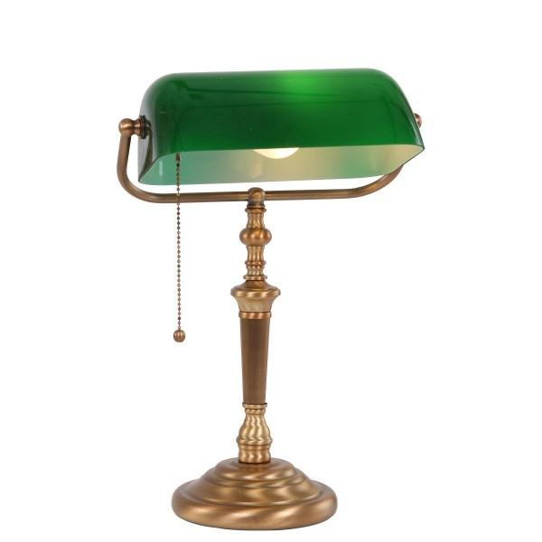 Banker Tischleuchte E27 Bronze Grün 6185BR