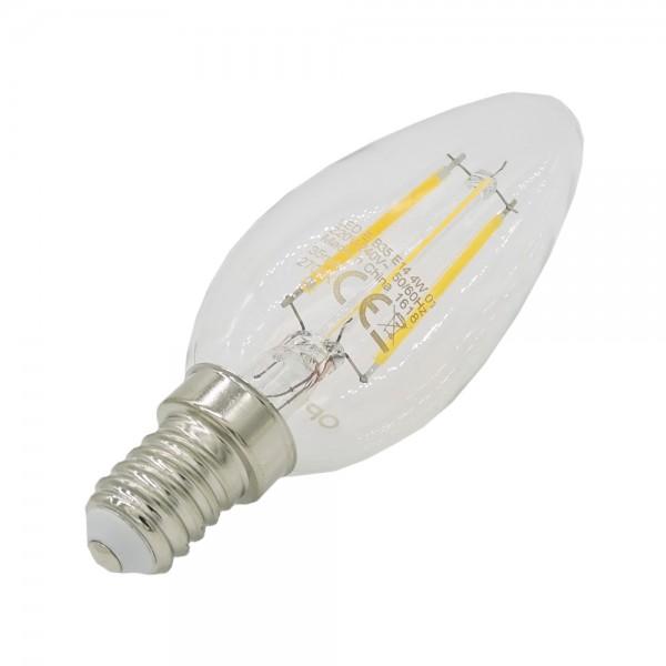 E14 4W LED Kerze 470lm 2700K Filament