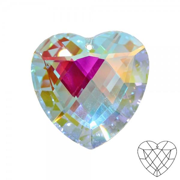 Kristallglas Herz ø 40mm Aurora-Borealis Regenbogenfarben im Geschenkbeutel