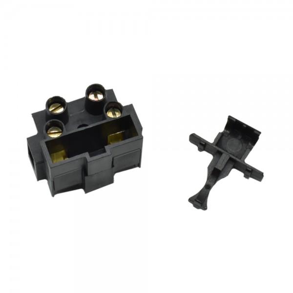 Lüsterklemme mit Feinsicherungsfach schwarz 0.5-2.5mm² starr: 0.5-2.5mm² Polzahl: 2