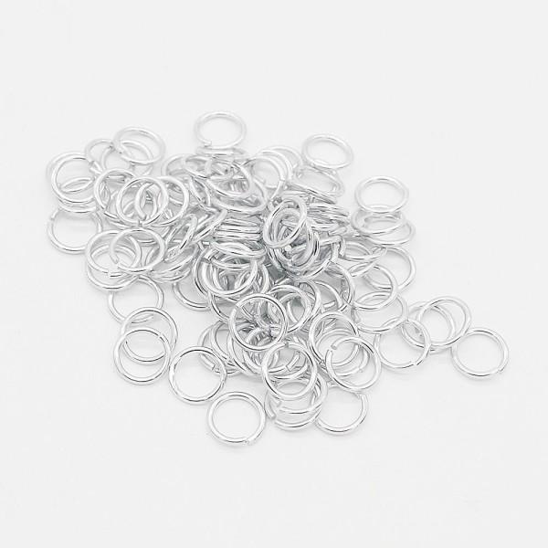 100x Biegering Chrom 9 x 0,9mm Kettelringe Kristallverbinder