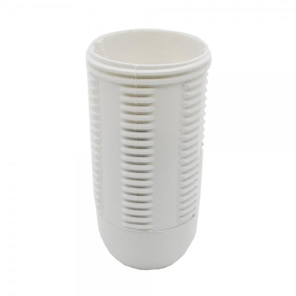E14 Fassung weiß Thermoplast 2-teilig Gewindemantel u. Rastkappe M10x1 Gewinde