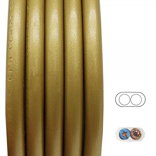 Kabel Gold 2x0,75qmm² 2G PVC H03VV-F Schlauchleitung Flach