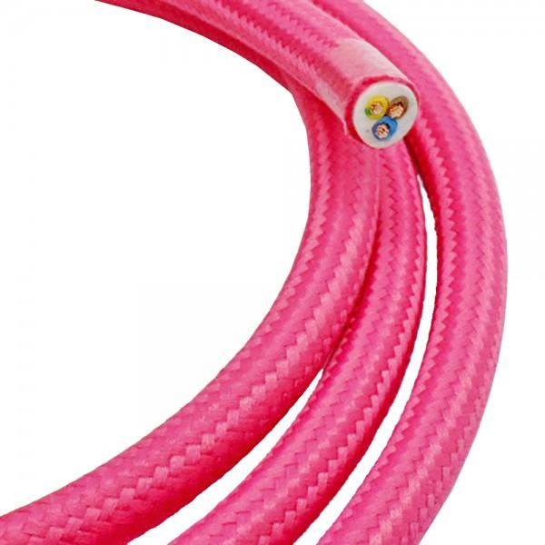 Textilkabel Stoffkabel glitzer metallic 3 adrig Stromkabel Elektrokabel