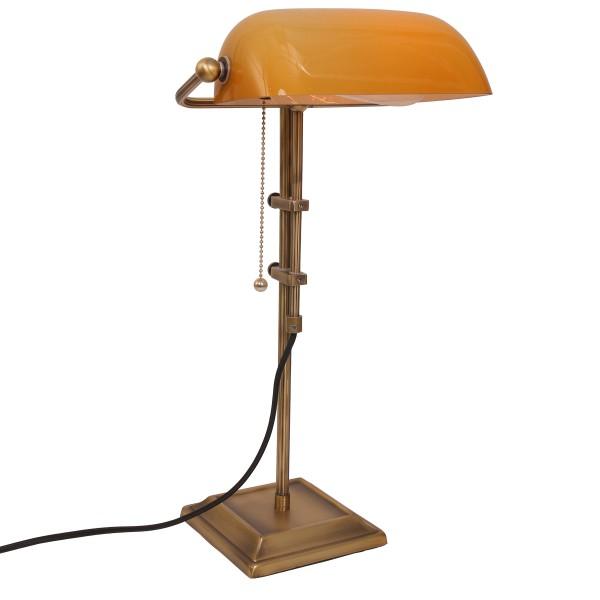 Banker Tischleuchte ANCILLA Bronze Orange 7735BR