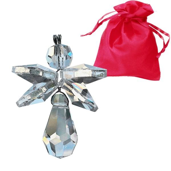 Schutzengel aus Kristallglas Charmes L. 35mm kristallklar incl. Geschenkbeutel