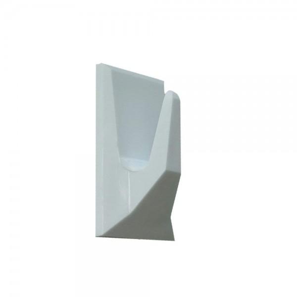 Kunststoff Klebehaken 38x20mm weiß selbstklebend