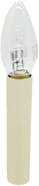 Hochwertige E14 Kerzenhülse L. 110mm ø 27/24mm Elfenbein Sonderanfertigung